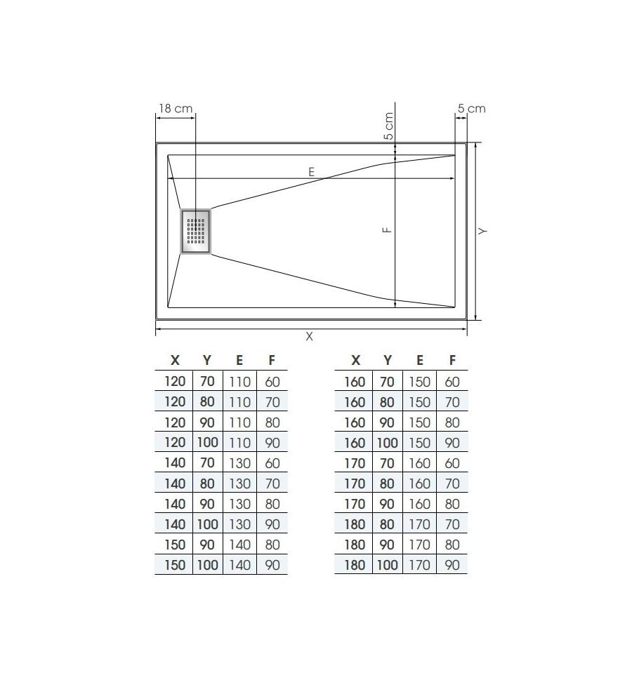 receveur douche kinesurf 160x100 color extraplat par. Black Bedroom Furniture Sets. Home Design Ideas
