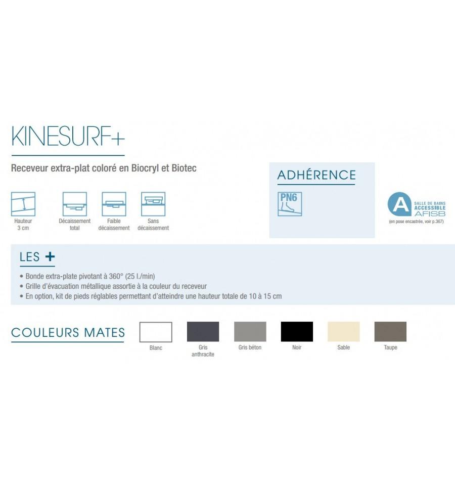 receveur douche kinesurf 180x90 color extraplat par. Black Bedroom Furniture Sets. Home Design Ideas