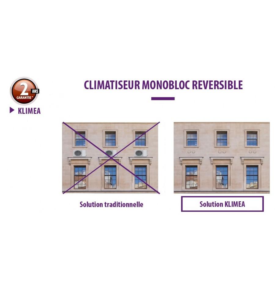 climatiseur monobloc r versible klimea 12hp dc inverter elios prix pas cher. Black Bedroom Furniture Sets. Home Design Ideas