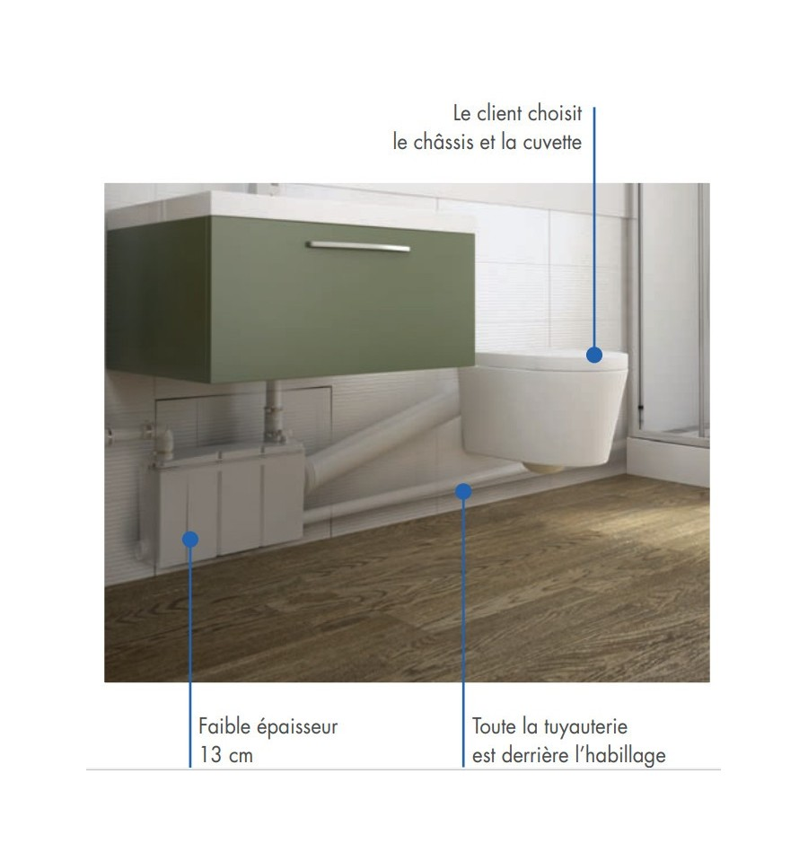 w16p watermatic broyeur adaptable pour cuvette suspendu. Black Bedroom Furniture Sets. Home Design Ideas