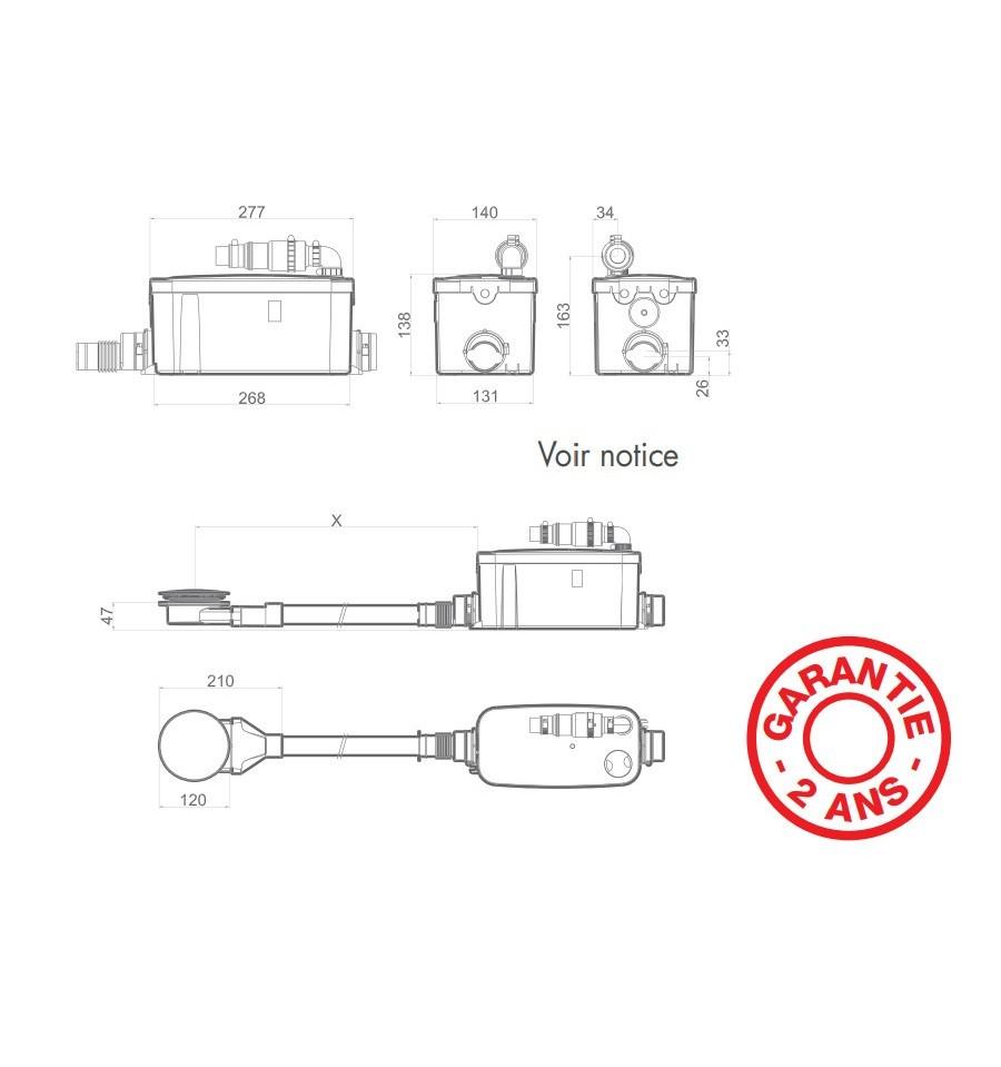 Pompe de relevage vd90 watermatic pour douche receveur - Pompe de relevage douche ...