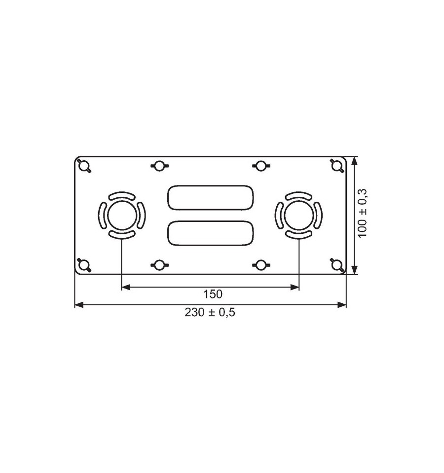 plaque de fixation per robifix 16 f1 2 entraxe 150mm prix pas cher. Black Bedroom Furniture Sets. Home Design Ideas