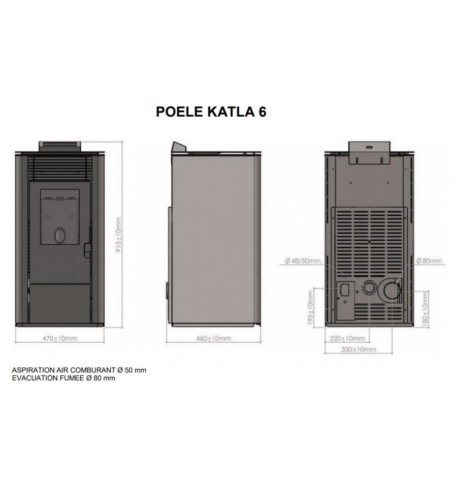 Katla 6 kW Calidéal, le po u00ealeà granulés ou pelletsà prix fumé est ICI # Poele A Bois Ou A Pellet
