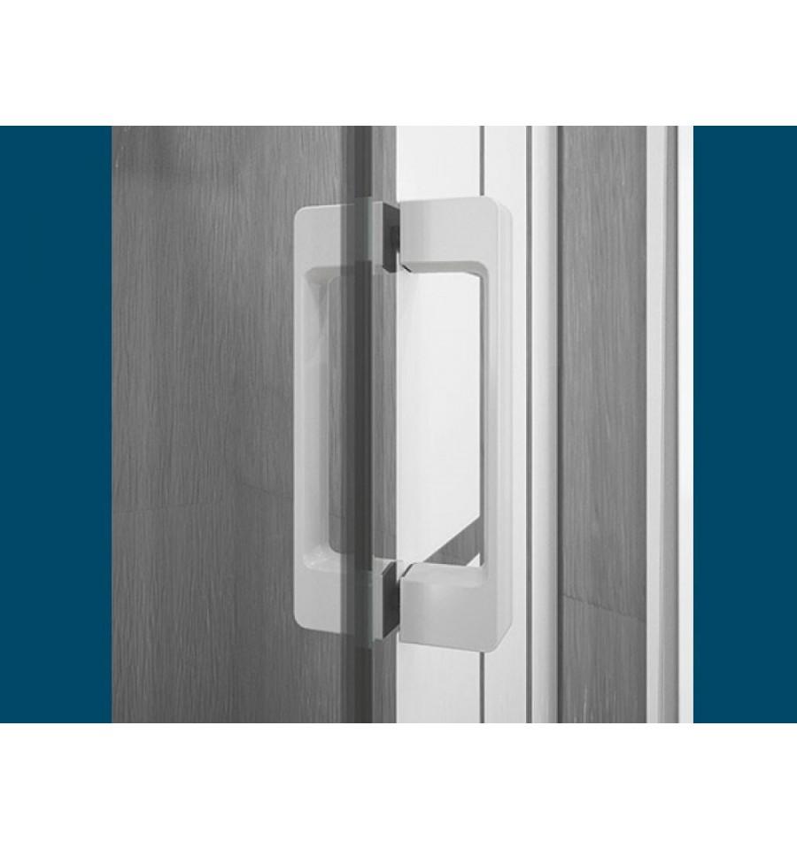 Porte de douche smart p sans seuil kinedo 100 x 200 5 cm for Seuil de porte interieur