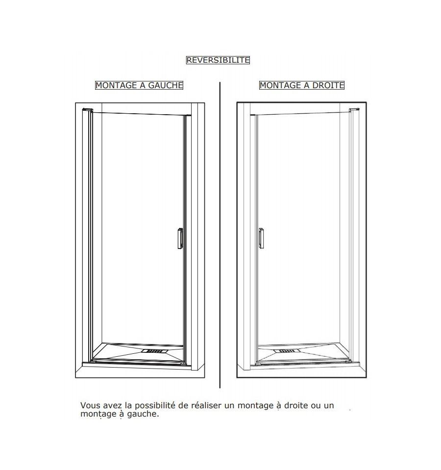 Porte de douche smart p sans seuil kinedo 110 x 2005 cm for Porte douche sans seuil