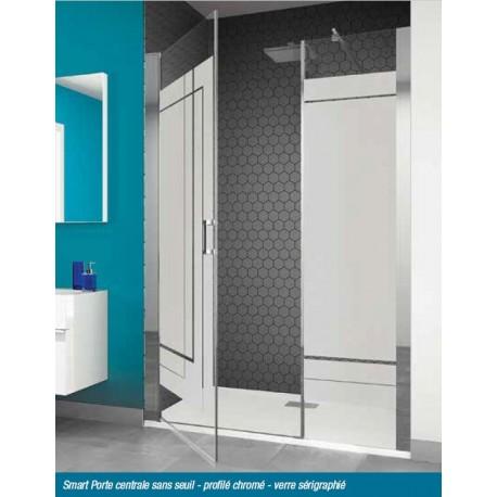 Porte centrale sans seuil smart kinedo 160 x 200 5 cm for Baignoire avec porte kinedo