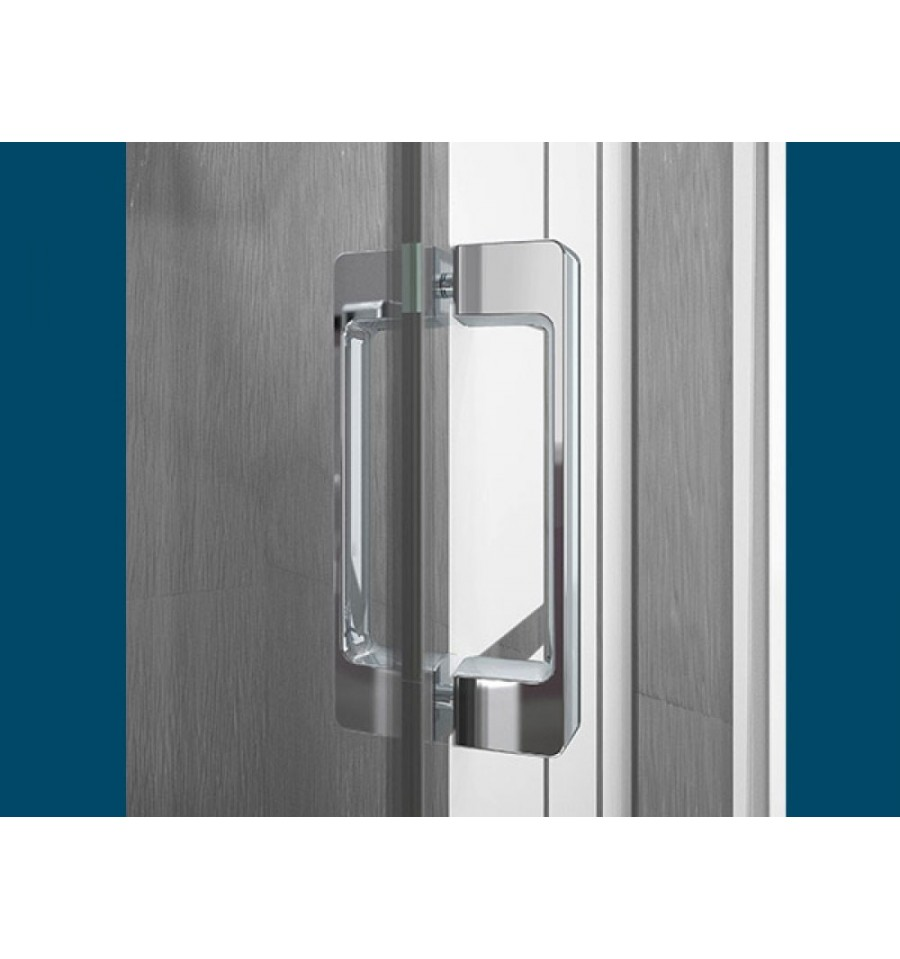 Portes de douche pivotantes smart 2p sans seuil kinedo 75 for Porte douche 75 cm