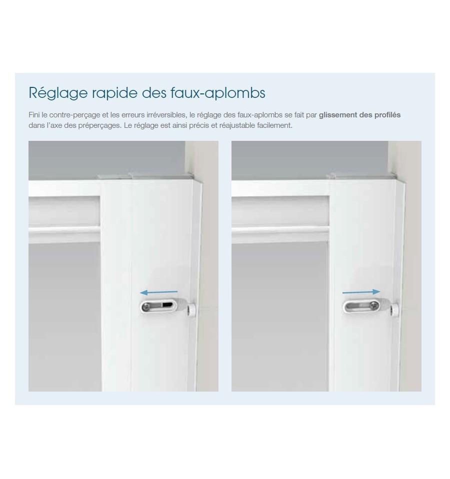 Portes de douche pivotantes smart 2p sans seuil kinedo 110 for Porte de douche 110 cm