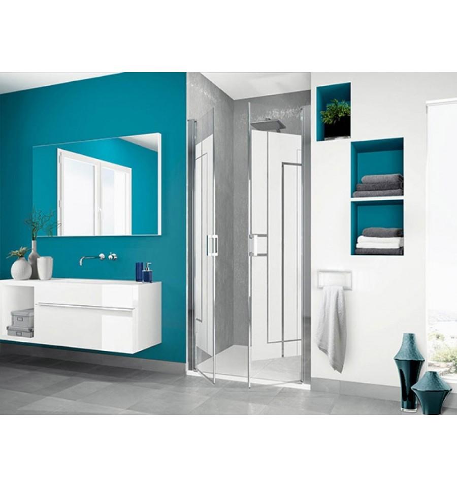 portes de douche pivotantes smart 2p sans seuil kinedo 120