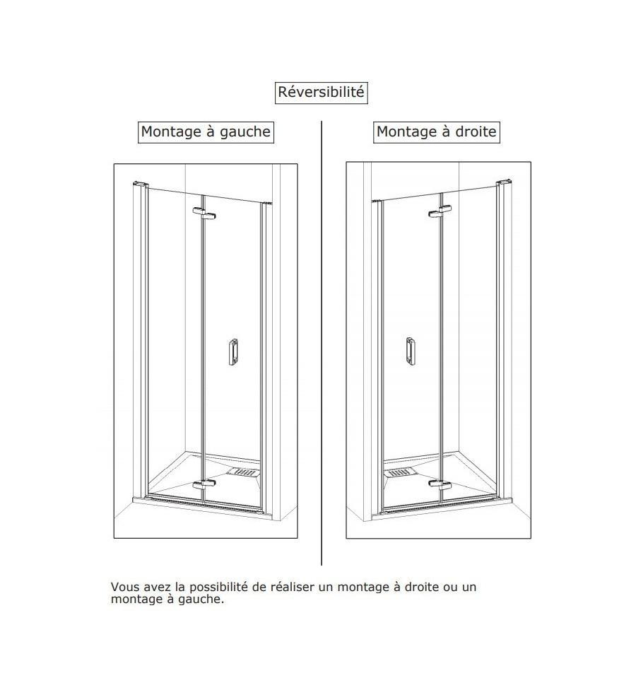 Porte de douche smart s sans seuil kinedo 85 x 2005 cm for Porte douche sans seuil