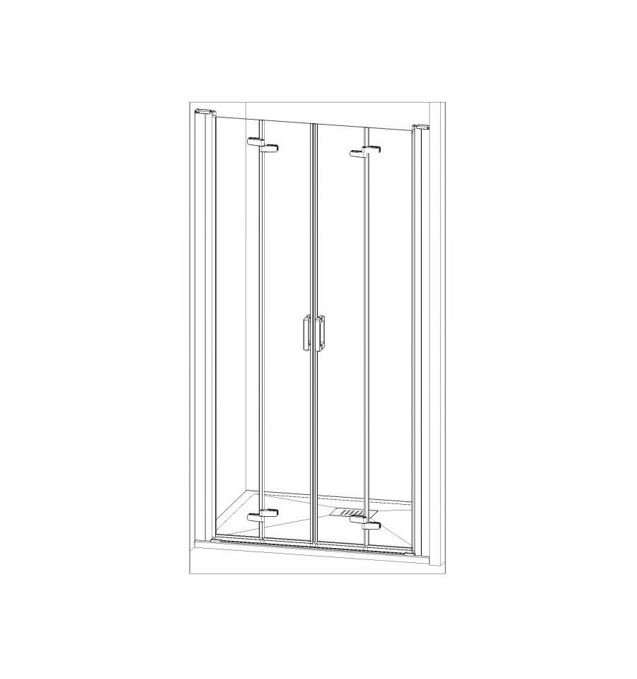 Porte de douche smart s sans seuil kinedo 120 x 200 5 cm prix douch ici - Porte de douche 120 ...