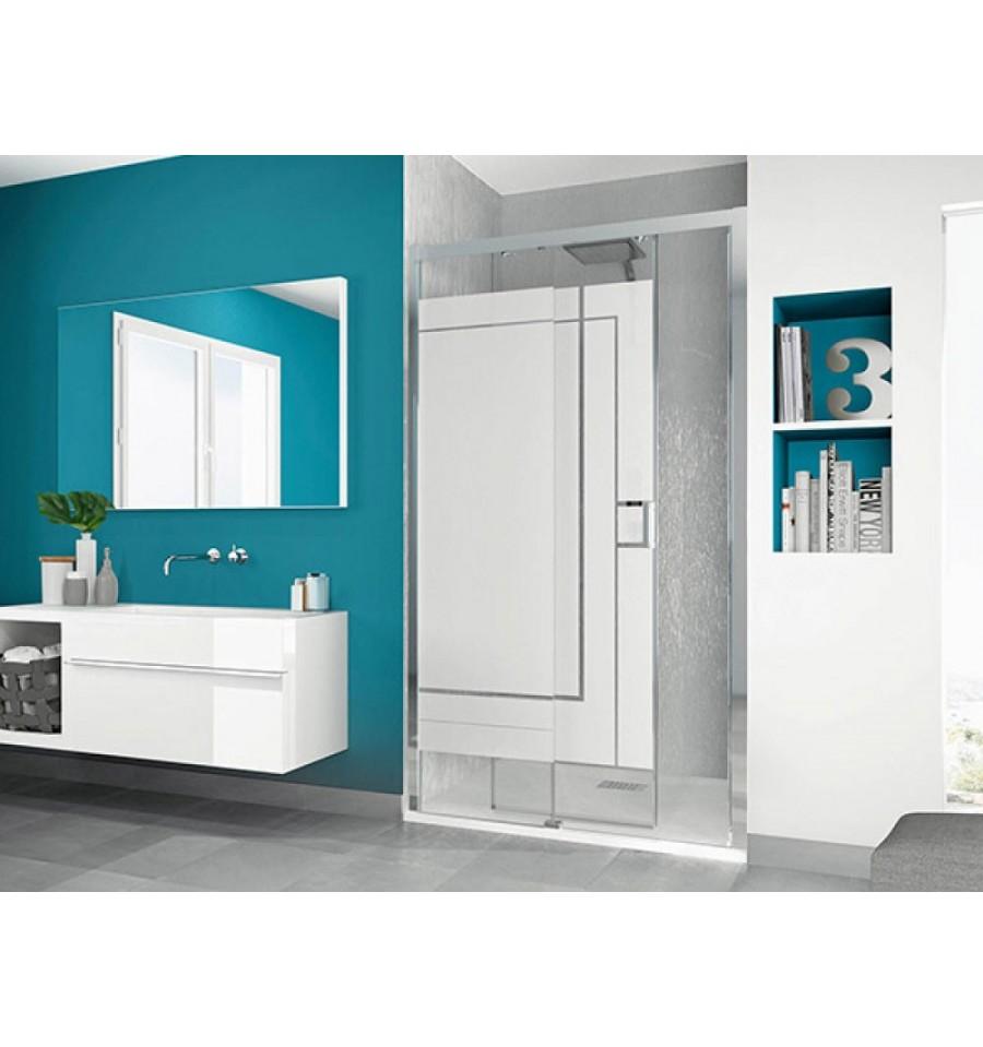 paroi de douche smart c sans seuil kinedo 110 x 200 5 cm avec 1 volet coulissant prix douch ici. Black Bedroom Furniture Sets. Home Design Ideas