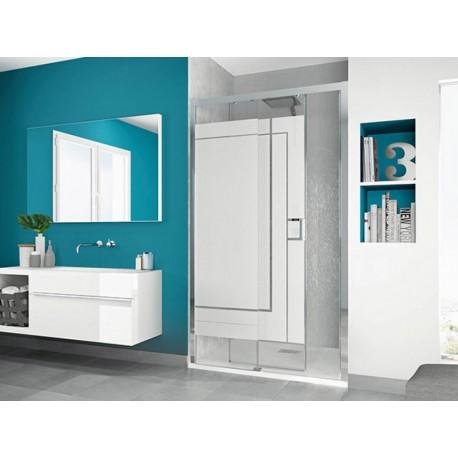paroi de douche smart c sans seuil kinedo 140 x 200 5 cm avec 1 volet coulissant prix douch ici. Black Bedroom Furniture Sets. Home Design Ideas