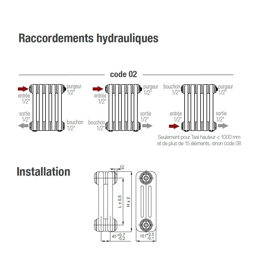 radiateur eau irsap tesi 3 600 x 405 mm 545 watts. Black Bedroom Furniture Sets. Home Design Ideas