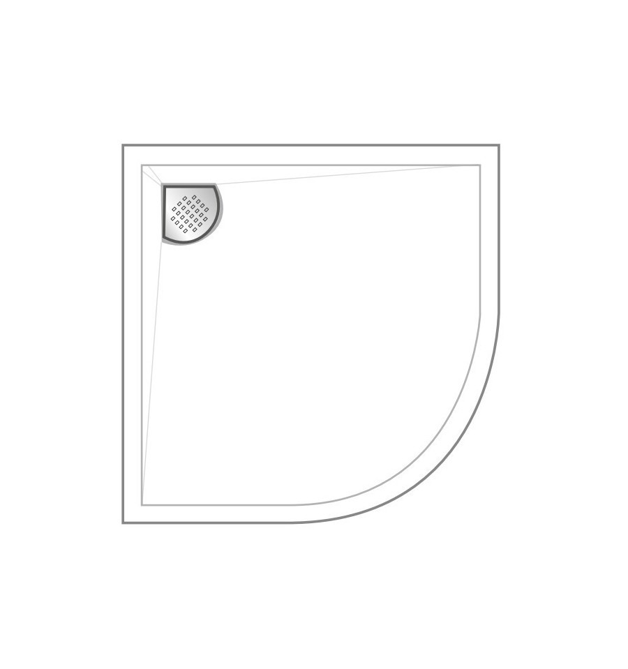 receveur douche kinesurf 1 4 de rond par kinedo prix douch pas cher. Black Bedroom Furniture Sets. Home Design Ideas