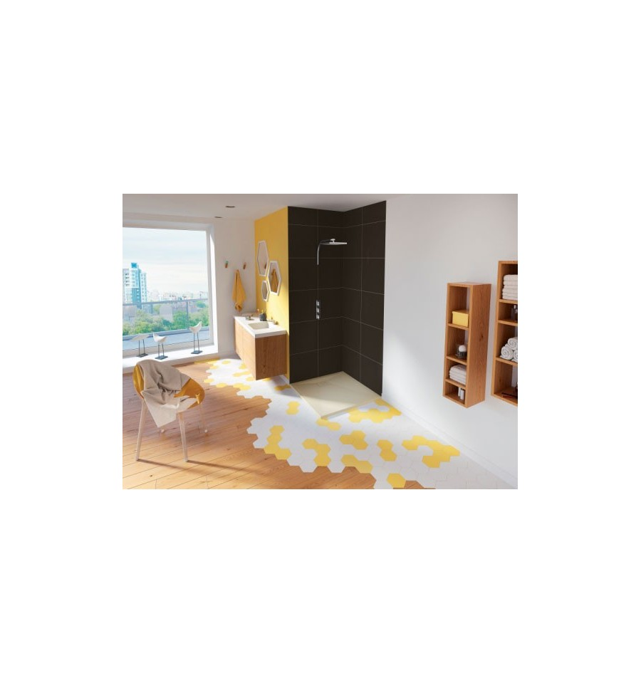 receveur douche kinesurf carr extraplat color kinedo prix douch et pas cher. Black Bedroom Furniture Sets. Home Design Ideas