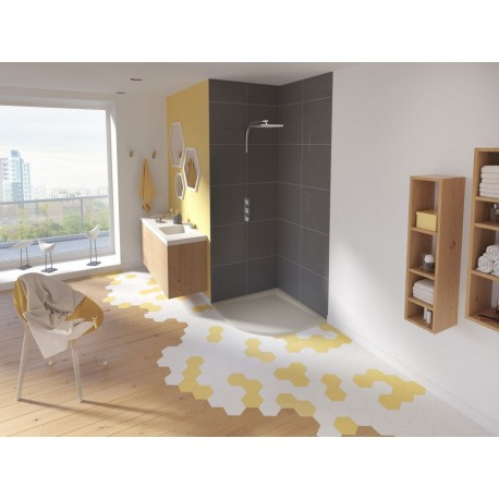 receveur douche kinesurf color extraplat 1 4 de rond par kinedo prix douch pas cher. Black Bedroom Furniture Sets. Home Design Ideas