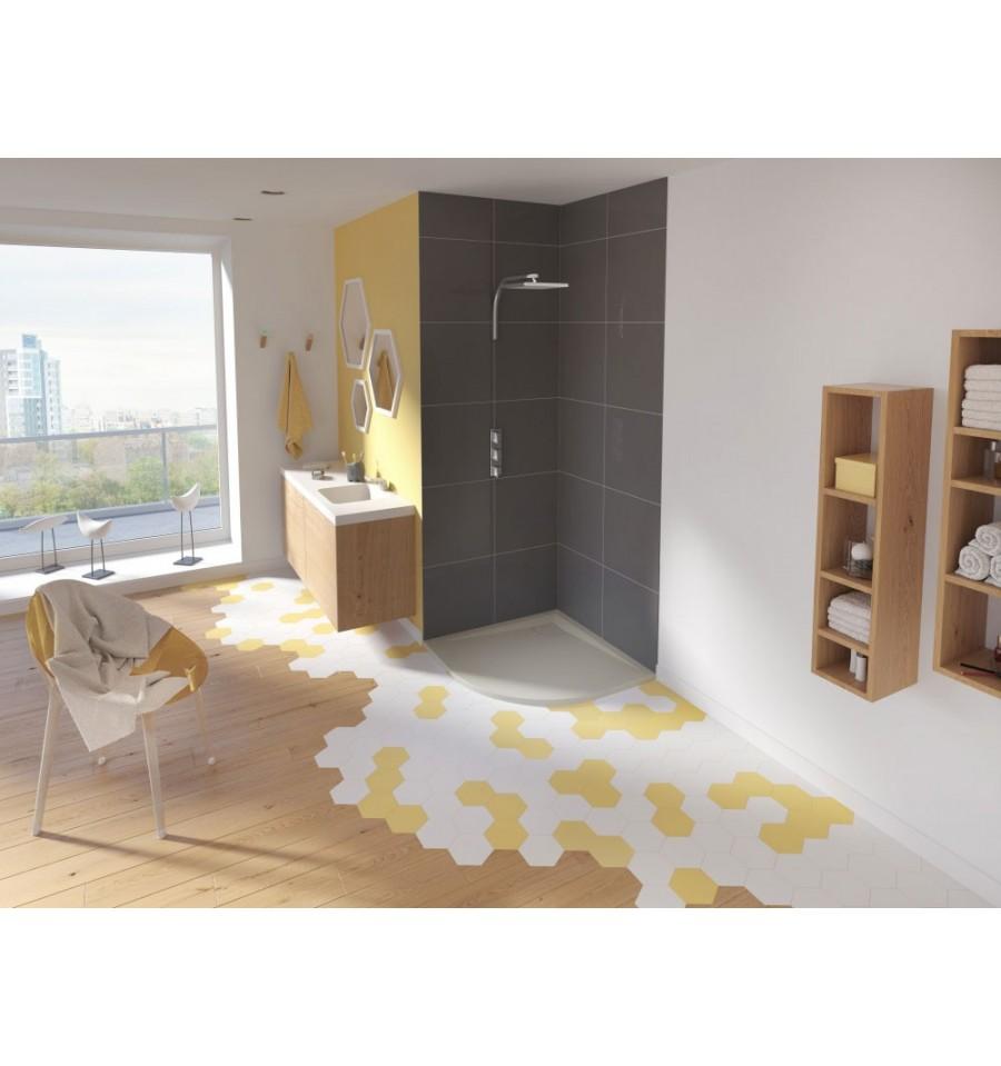 receveur douche kinesurf color extraplat 1 4 de rond par kinedo prix douch pas cher. Black Bedroom Furniture Sets. Home Design Ideas