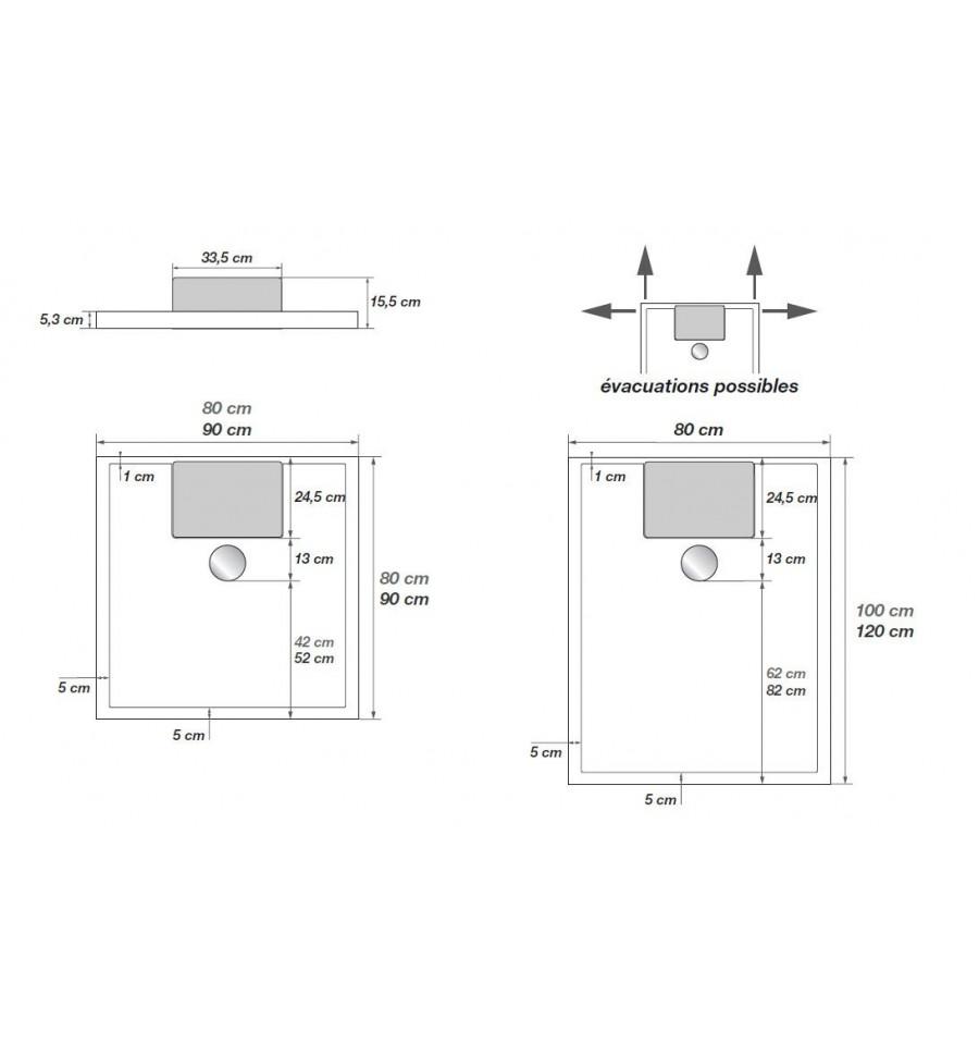 receveur de douche avec pompe de relevage latest pompe de relevage douche gnial sanibroyeur de. Black Bedroom Furniture Sets. Home Design Ideas