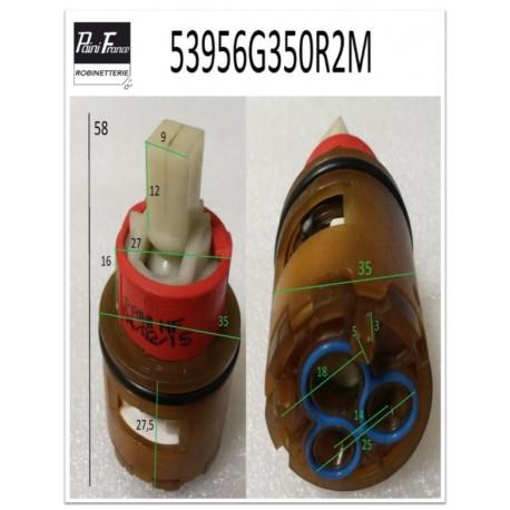 Cartouche Ø 35 mm 53956G350R2M de Paini france
