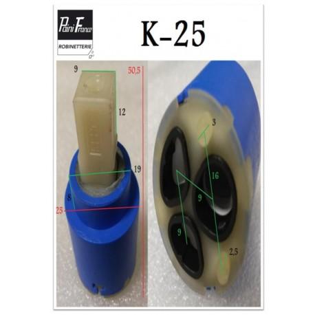 Cartouche Ø 25 mm K-25 pour Robinetterie Paini France