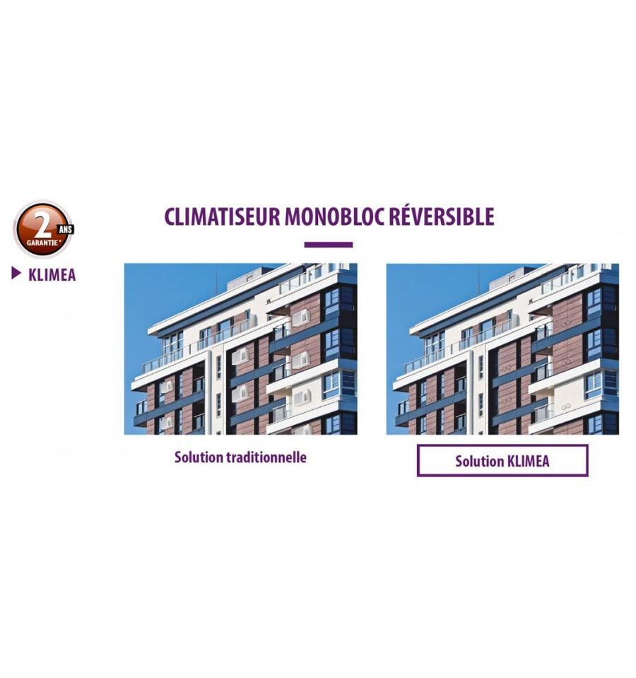 climatiseur monobloc r versible klimea 12hp dc inverter vertical elios prix pas cher. Black Bedroom Furniture Sets. Home Design Ideas