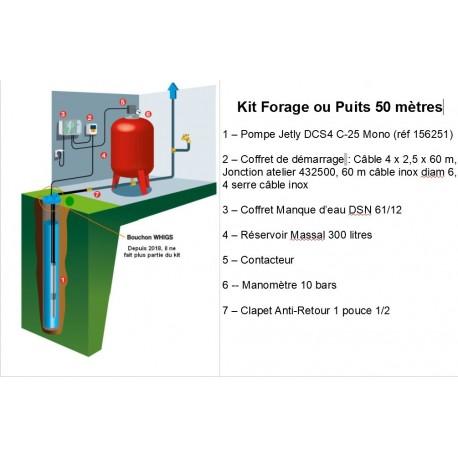 Nouveau Kit Complet Forage / Puisage Jetly 50 mètres profondeur à Prix Givré ZX-82