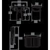Siège de Douche Grande Taille Pellet ASC Taupe & Gris chrome, H500 mm