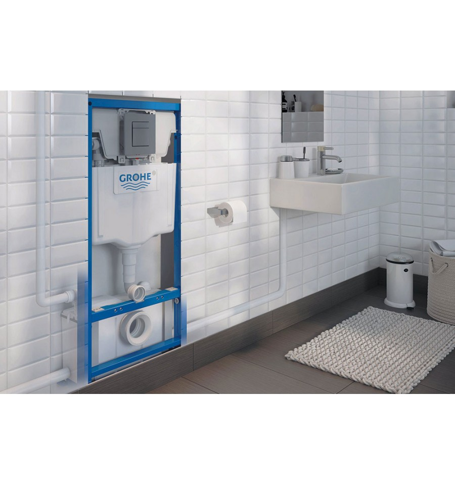 Wc Suspendu Grohe Dimension waterwall watermatic - broyeur adaptable avec bâti-support