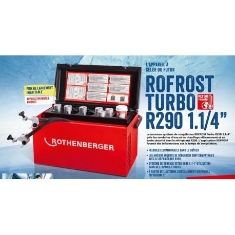 """ROFROST Turbo R290 1.1/4"""" Rothenberger - Appareil de Congélation des Tubes"""