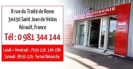 Brico Plomberie - Saint Jean de Védas - Tel 0 981 344 144