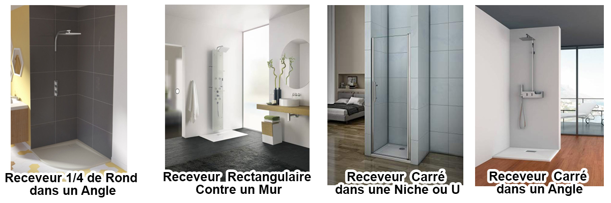 Le receveur de douche et son implantation vont limiter vos choix